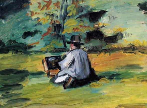 Cezanne 1875 El pintor en su labor