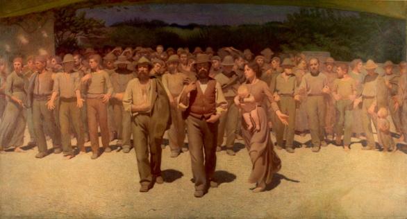 El Cuarto Estado de Giuseppe Pelliza da Volpedo 1901