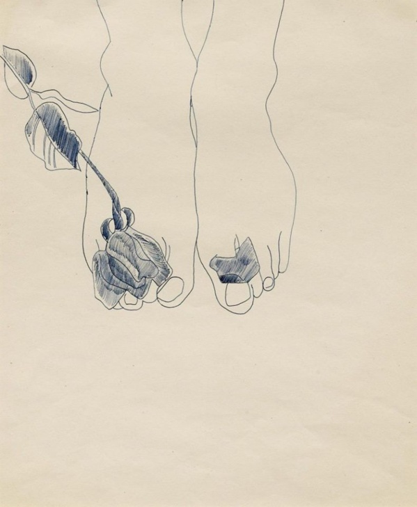 Feet whith flowers de Andy Warhol