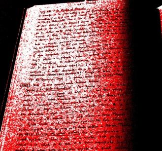 En rojo y negro (manuscrito de Fernando Loygorri). Fotografía de Olmo Z. Octubre 2014