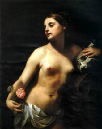 Alegoría de la vanidad de Guido Cagnacci 1641