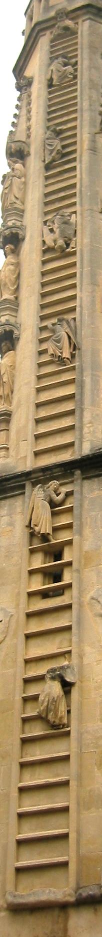 La escalera de Betel en la Abadía de Bath