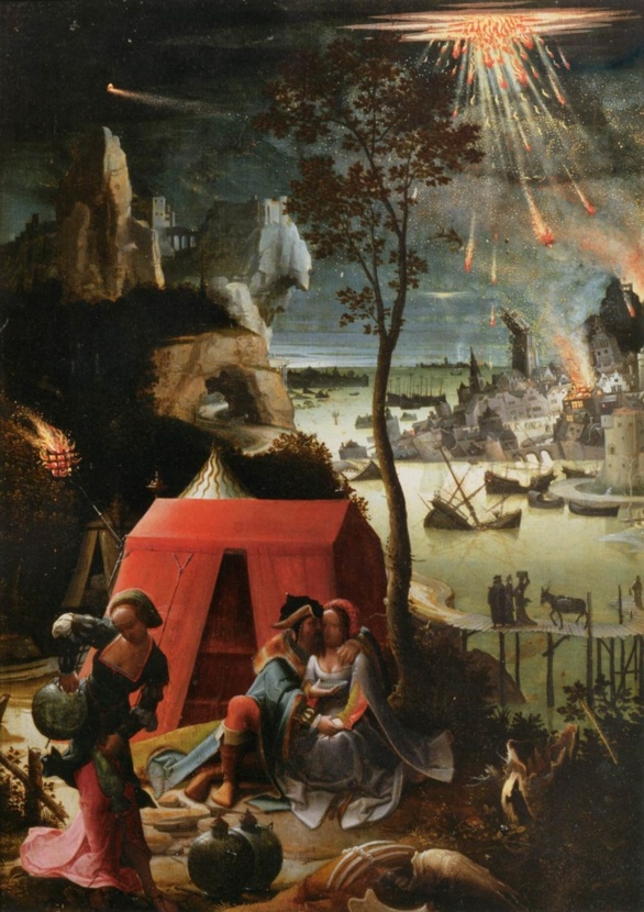 Las hijas de Lot de Lucas van den Leyden (ca. 1520)