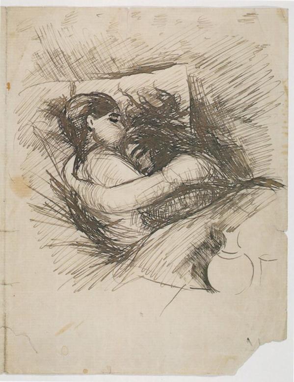 Hombre y mujer en la cama. Edvard Munch 1890