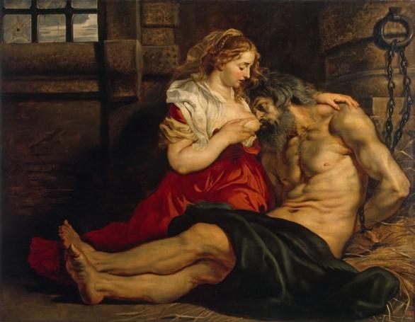 Caritas Romana. Rubens 1612