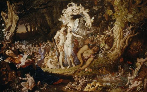 La reconciliación de Oberon y Titania de Joseph Noel Paton