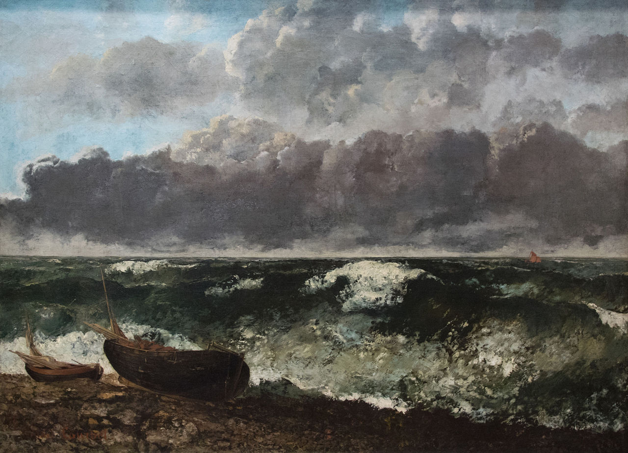 La mer orangeuse de Gustave Courbet