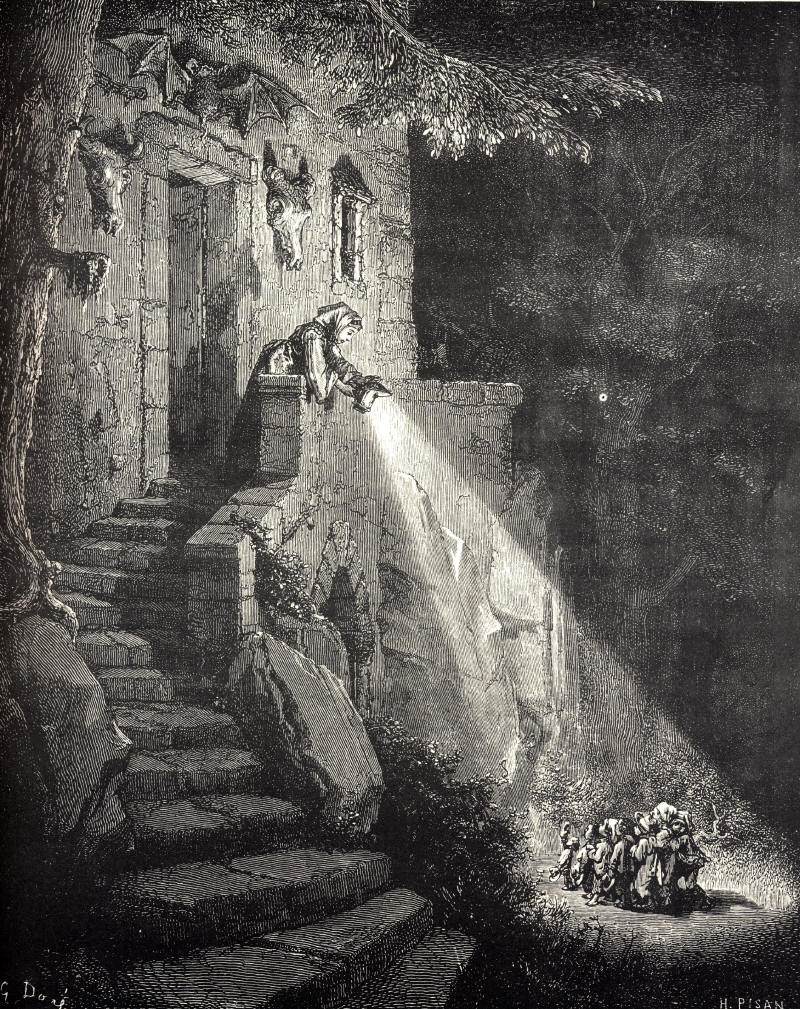 Grabado de Pulgarcito de Gustave Doré