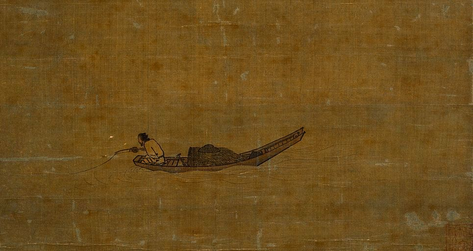 Pescador solitario de Ma Yüan 1195