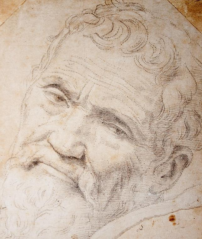 Retrato de Michelangelo Buonarroti por Daniele da Volterra ca. 1554