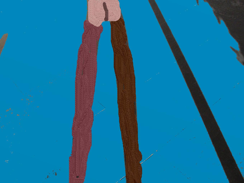 Sombra de cojo. Técnica mixta fotografía y pintura digitales. Fernando Loygorri 2020