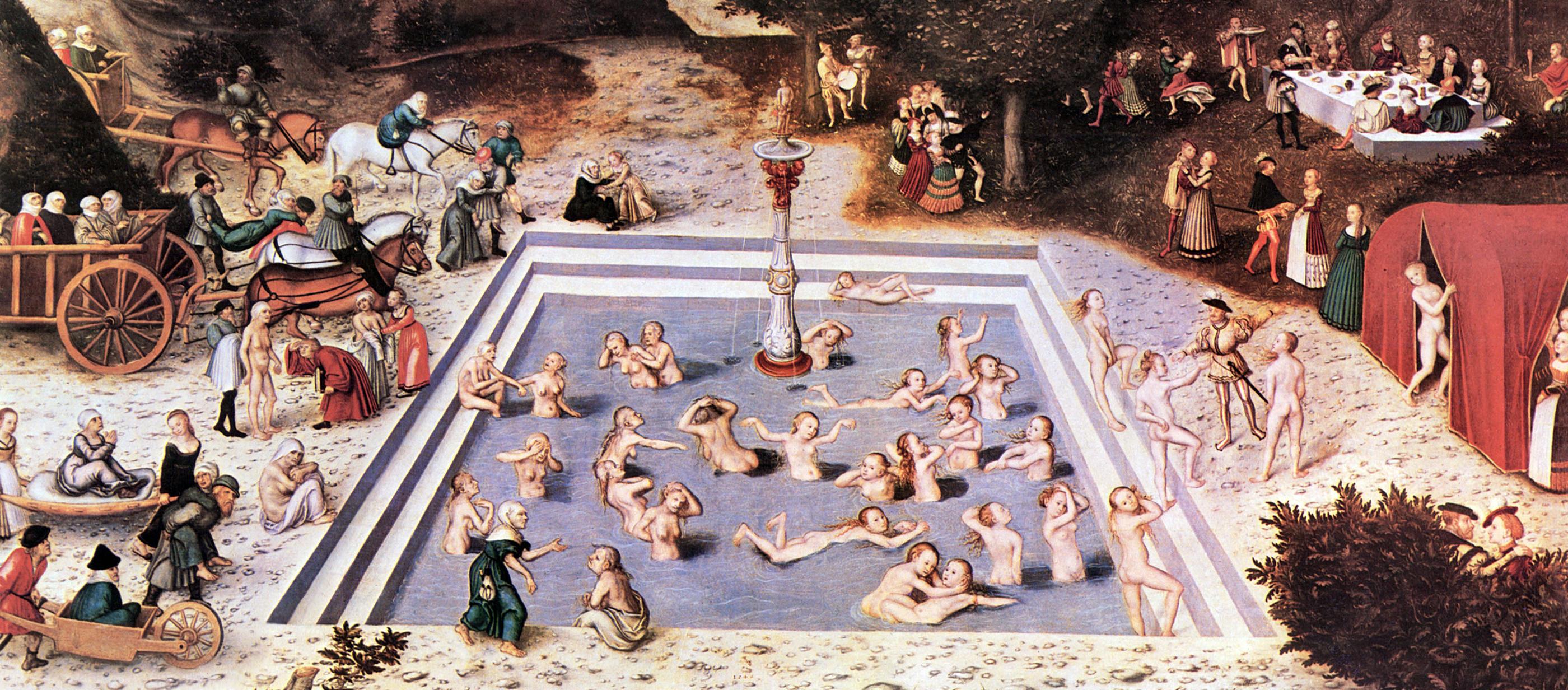 La fuente de la eterna juventud de Lucas Cranach. 1546.