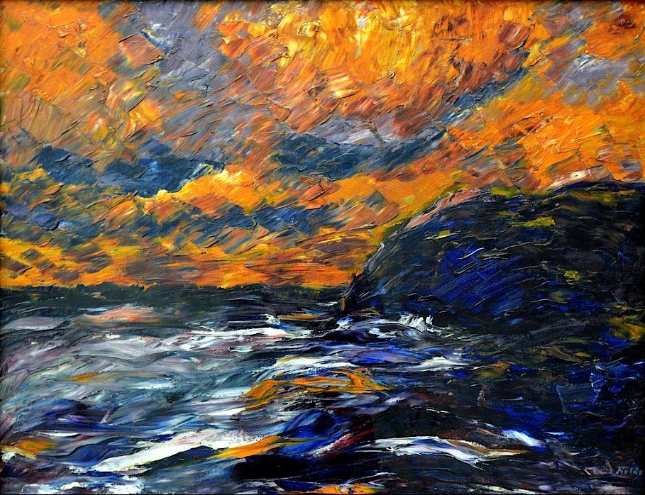 Mar de otoño. Emil Nolde, 1910