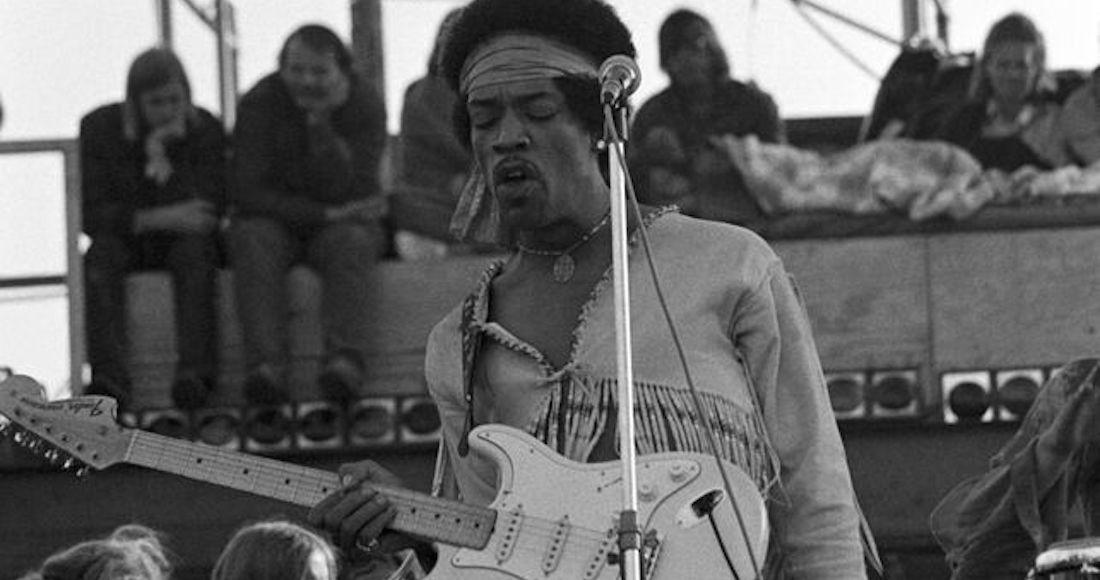 Jimmi Hendrix en Woodstock. 1969