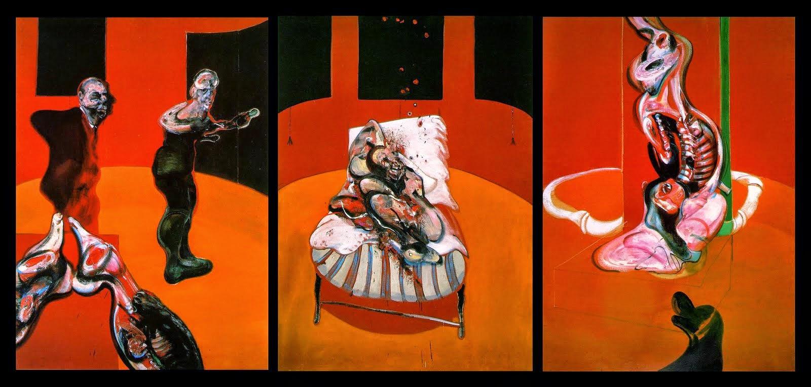 Tres estudios para una crucifixión de Francis Bacon. 1962