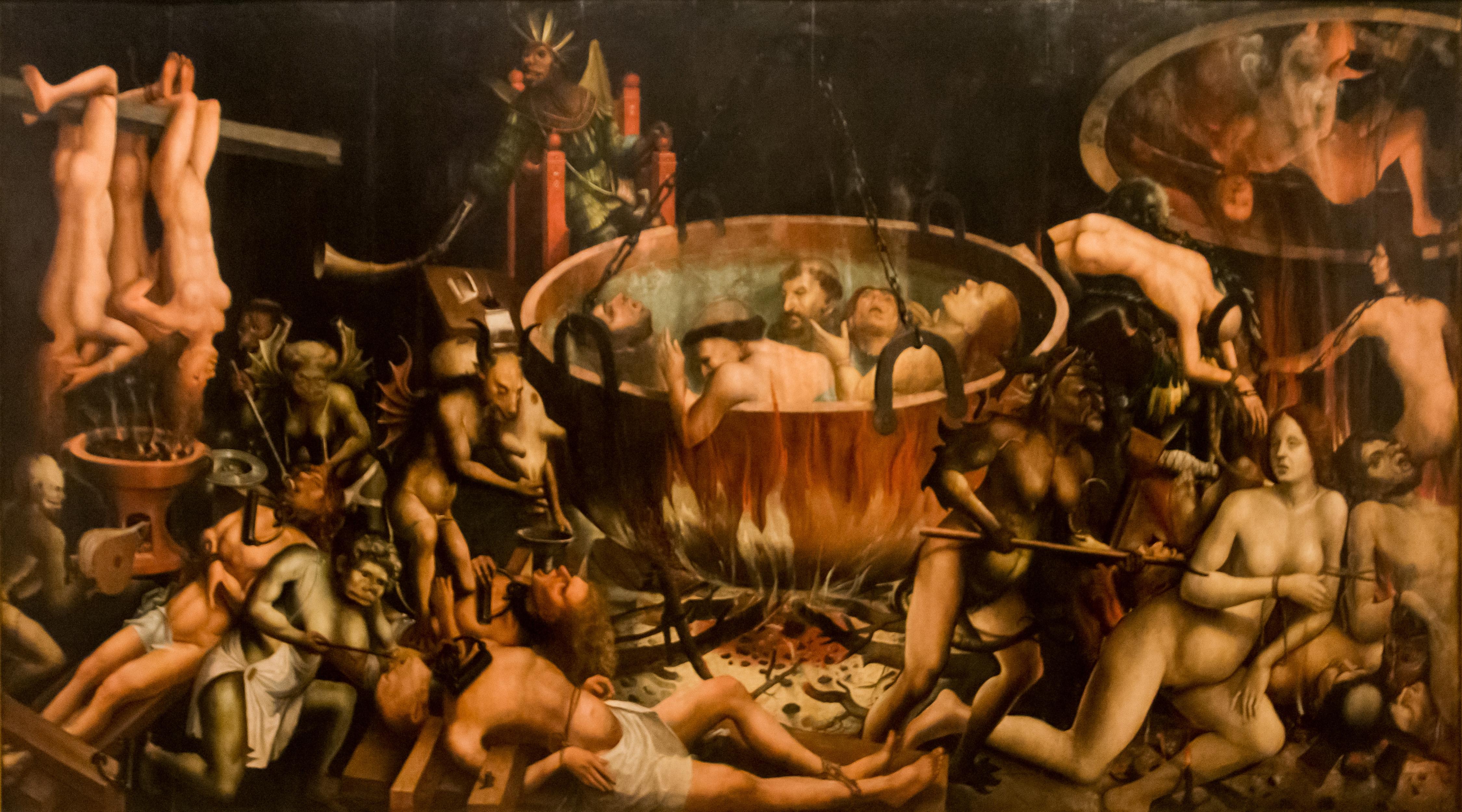 Infierno. Anónimo. Museo Nacional de Lisboa. Datado en el primer tercio del siglo XVI