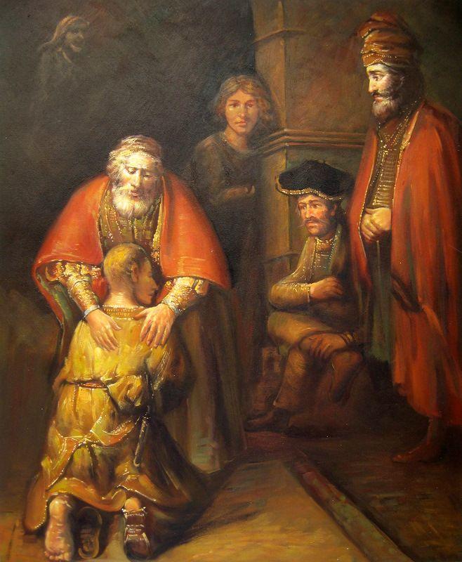 El regreso del hijo pródigo. Rembrandt. 1666-1669
