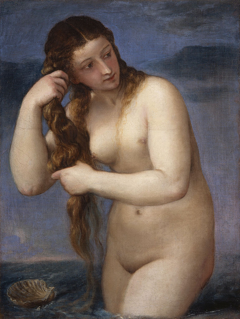 Venus anadiomena. Tiziano. 1520