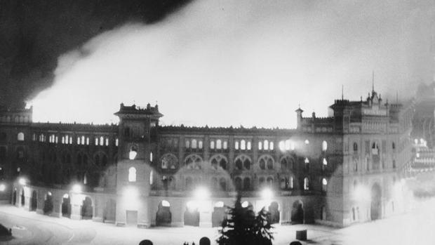 Incendio de la Plaza de Toros de Las Ventas. Madrid, 1963