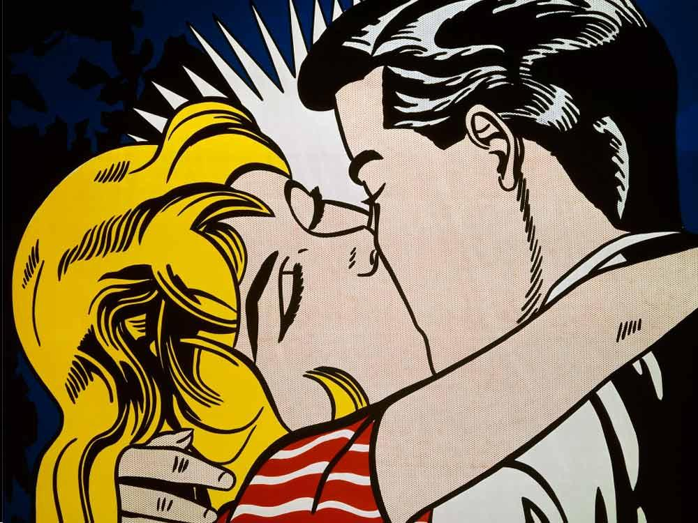 Kiss II de Roy Lichstenstein. 1963
