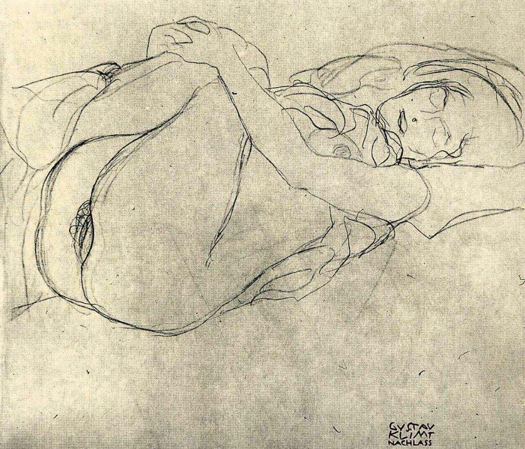 Boceto de Gustav Klimt ca.1916