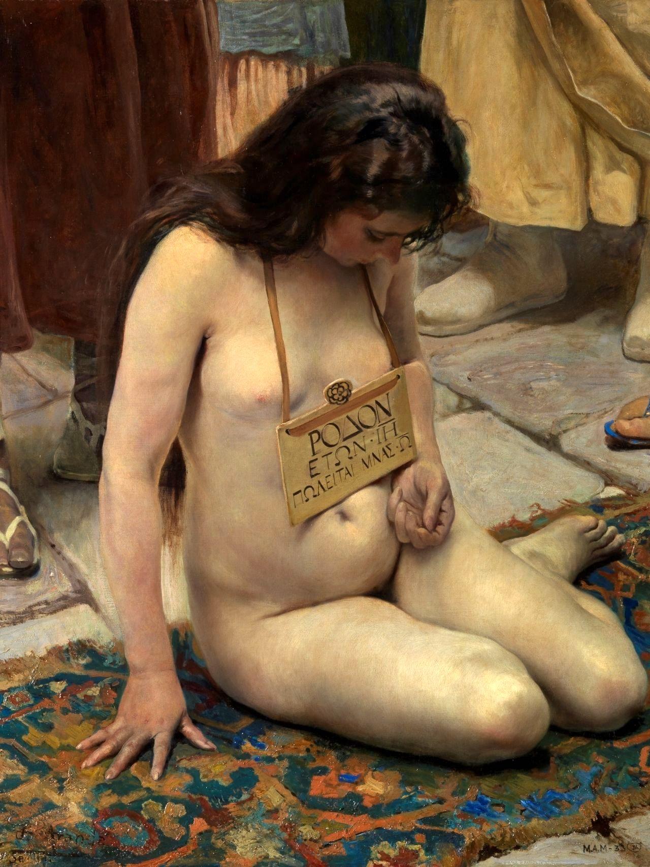 Una esclava en venta de José Jiménez Aranda. 1897