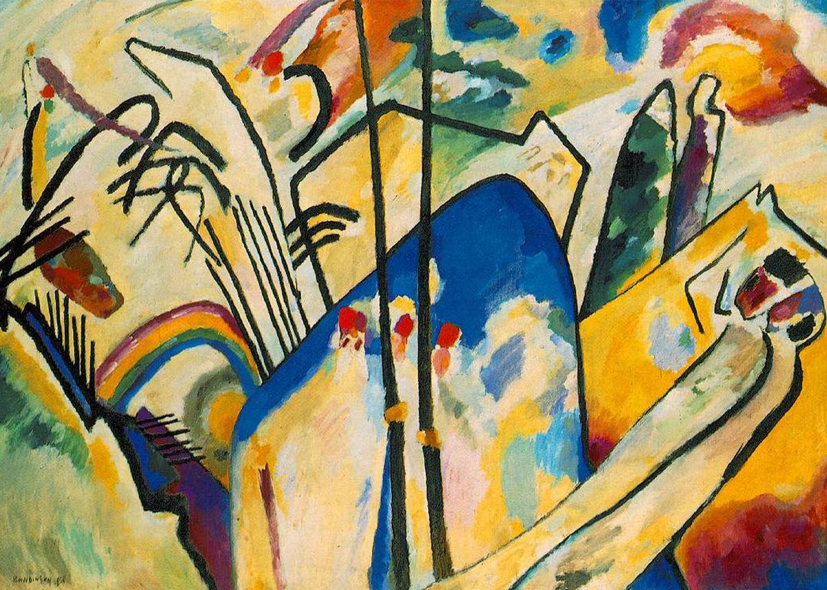 Composición IV Wassily Kandinsky. 1911