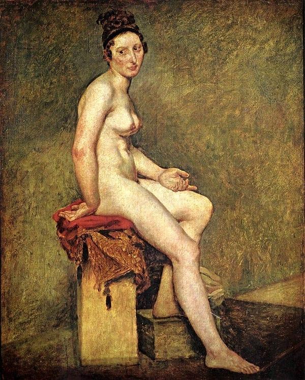 Mademoiselle Rose de Eugène Delacroix. 1817