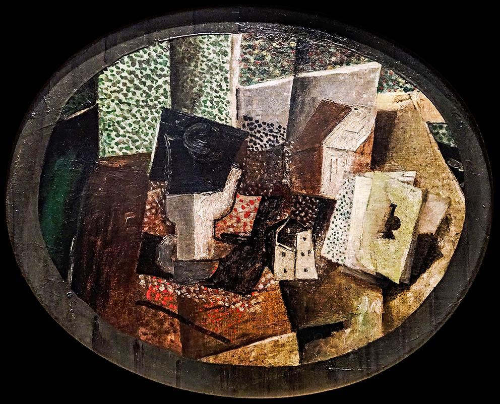 Naipes y dados de George Braque. 1914