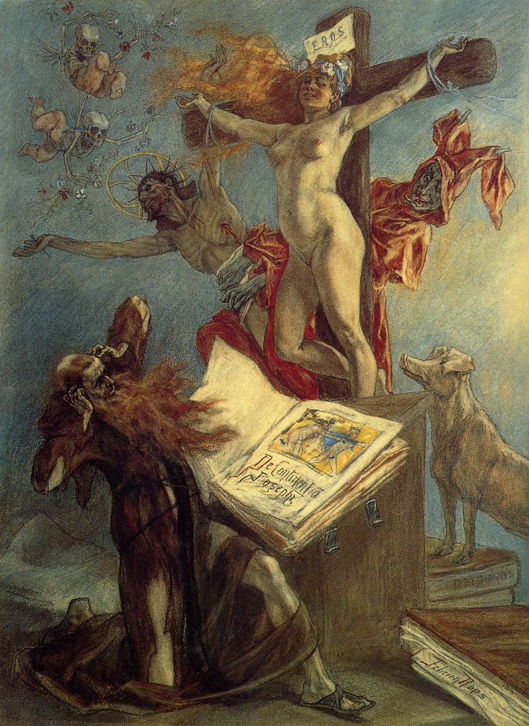 La tentation de Saint Antoine de Félicien Rops. 1878