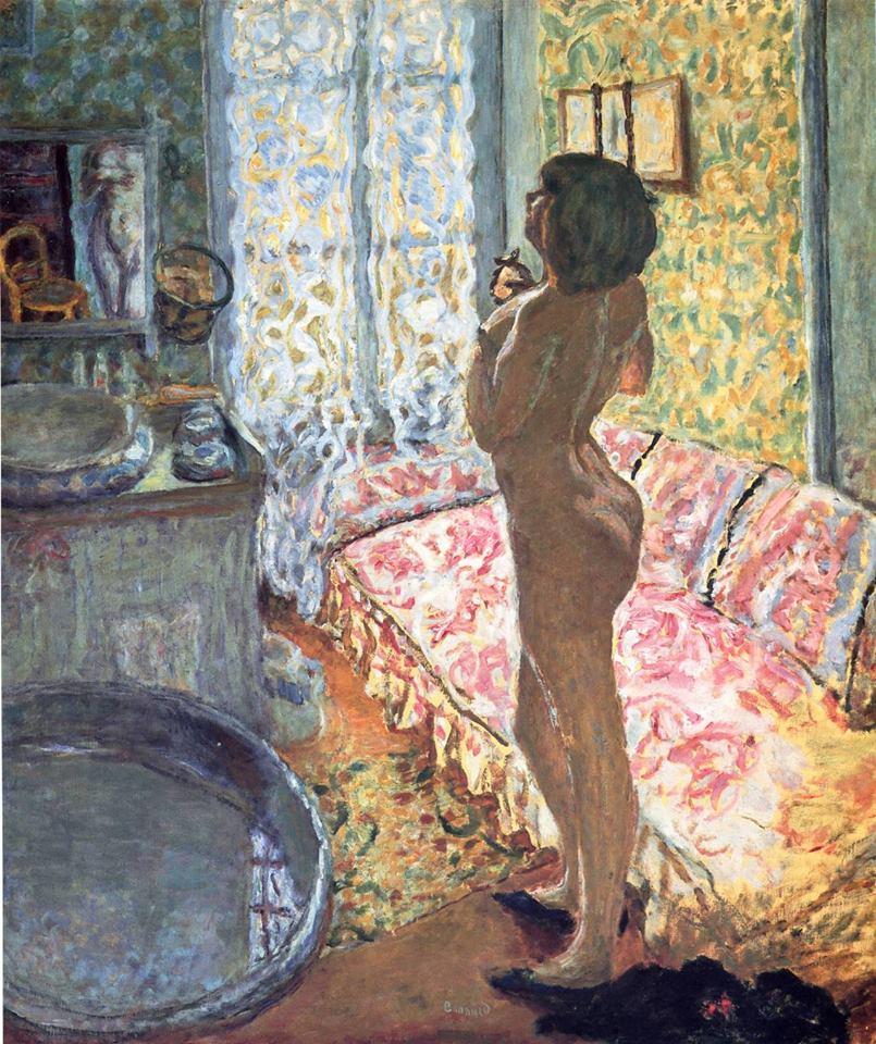 Modelo a contraluz de Pierre Bonnard 1908