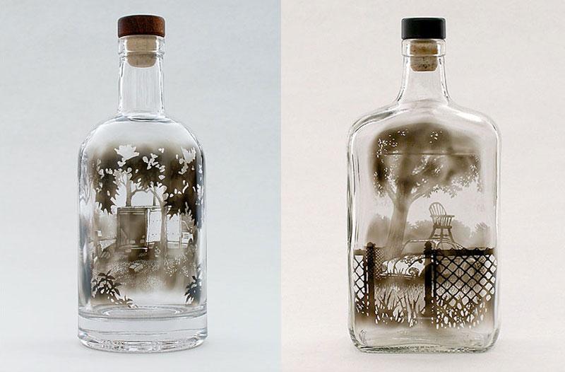 Arte de humo en botella de Jim Dingilian