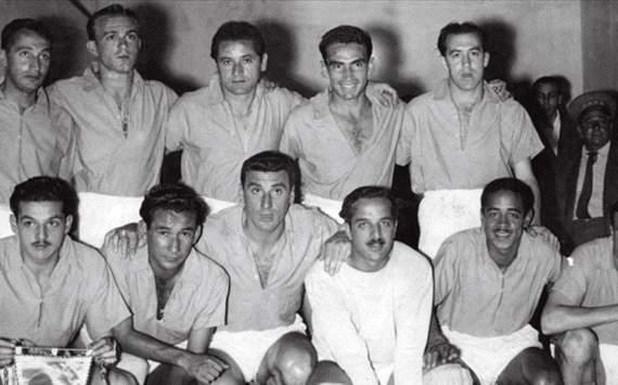 El Millonarios de Bogotá en 1952 llamado por aquel entonces El Ballet Azul